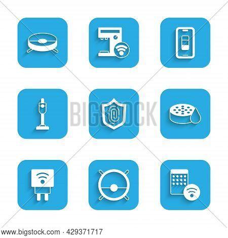 Set Fingerprint, Robot Vacuum Cleaner, Air Humidifier, Water Sensor, Smart Electric Plug, Vacuum, Sm
