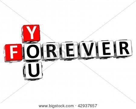 3D Forever You Crossword