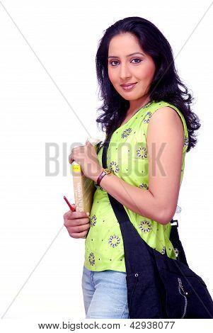 Indian girl with shoulder bag
