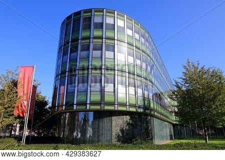 Oberhausen, Germany - September 18, 2020: Modern Architecture Of Stadtsparkasse Oberhausen, Germany.