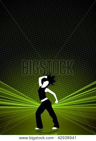 fitness or dance poster background with space poster