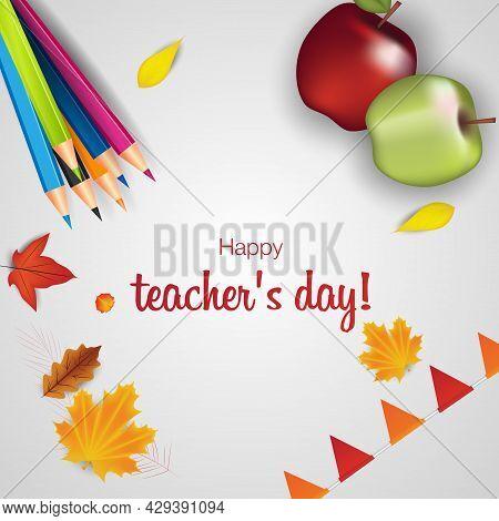 Happy Teachers Day The Best Teacher In The World Vector Concept Banner For World Teachers Day