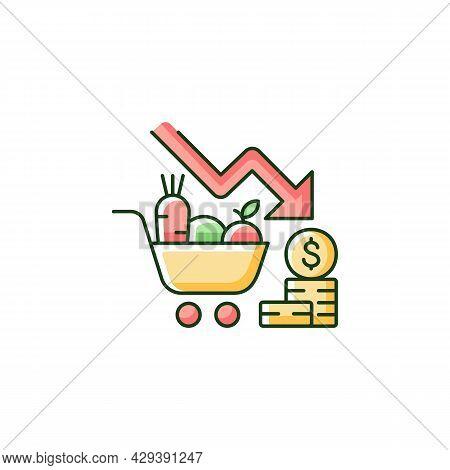 Marketing Risks Rgb Color Icon. Market Loss. Financial Failure And Crisis. Consumer Preferences Affe