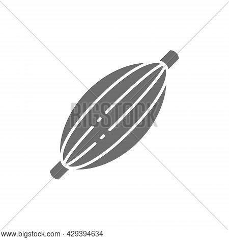Human Muscle, Tendon Grey Icon. Isolated On White Background