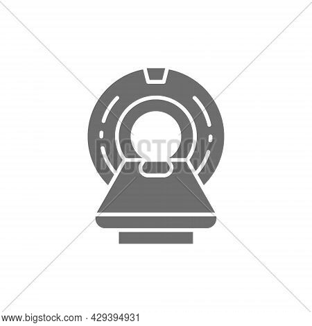 Mri Scanner, Magnetic Resonance Imaging Device, Tomography Grey Icon.