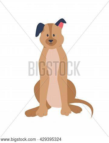Adopting German Shepherd Semi Flat Color Vector Character. Loyal Guardian For Family. Full Body Anim