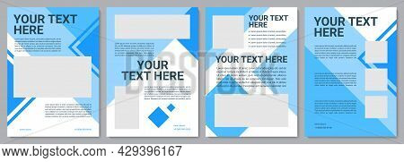 Unique Turquoise Brochure Template. Marketing Info. Flyer, Booklet, Leaflet Print, Cover Design With