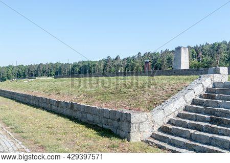 Rogoznica, Poland - June 3, 2021: Former Nazi Concentration Camp Gross-rosen.
