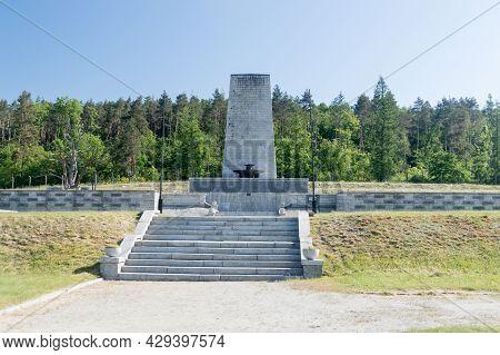 Rogoznica, Poland - June 3, 2021: Gross-rosen Memorial In Former Nazi Concentration Camp Gross-rosen