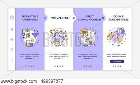 Productive Arguments Onboarding Vector Template. Responsive Mobile Website With Icons. Web Page Walk