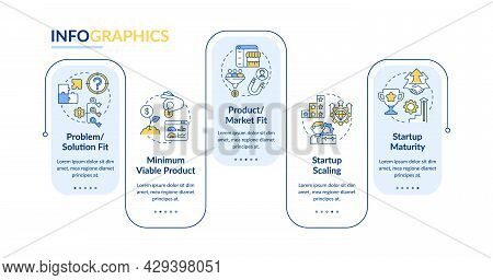 Startup Lifecycle Phases Vector Infographic Template. Business Presentation Outline Design Elements.