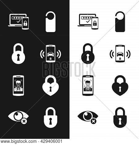Set Smart Car Alarm System, Lock, Two Steps Authentication, Please Do Not Disturb, Mobile And Face R