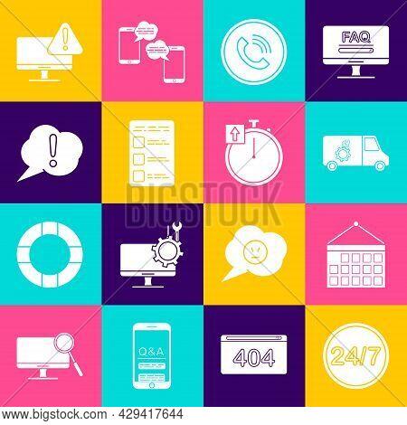Set Clock 24 Hours, Calendar, Car Service, Phone Call, Create Account Screen Mobile, Speech Bubble E
