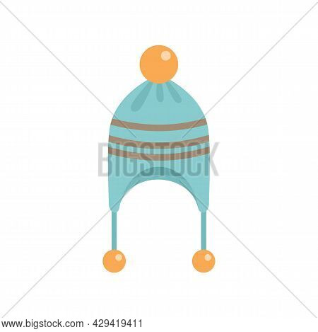 Winter Headwear Icon. Flat Illustration Of Winter Headwear Vector Icon Isolated On White Background