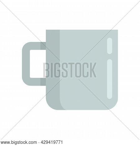 Survival Steel Mug Icon. Flat Illustration Of Survival Steel Mug Vector Icon Isolated On White Backg