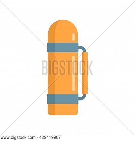 Survival Thermos Bottle Icon. Flat Illustration Of Survival Thermos Bottle Vector Icon Isolated On W