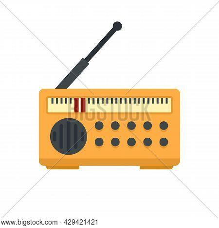Radio Fake News Icon. Flat Illustration Of Radio Fake News Vector Icon Isolated On White Background