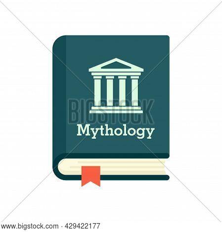 Mythology Book Icon. Flat Illustration Of Mythology Book Vector Icon Isolated On White Background
