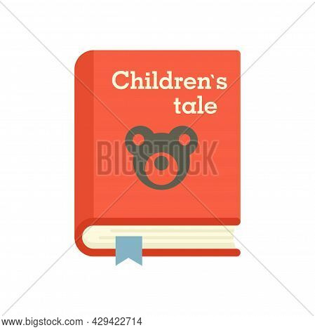 Childrens Tale Book Icon. Flat Illustration Of Childrens Tale Book Vector Icon Isolated On White Bac