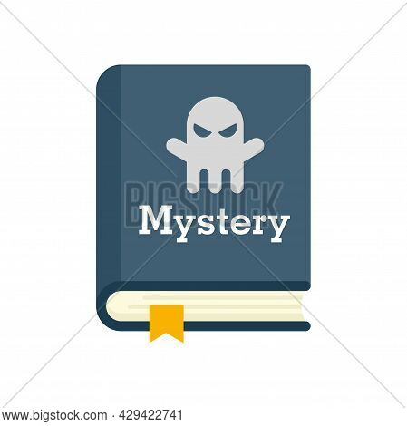 Old Mystery Book Icon. Flat Illustration Of Old Mystery Book Vector Icon Isolated On White Backgroun