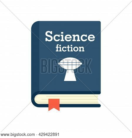 Science Fiction Book Icon. Flat Illustration Of Science Fiction Book Vector Icon Isolated On White B