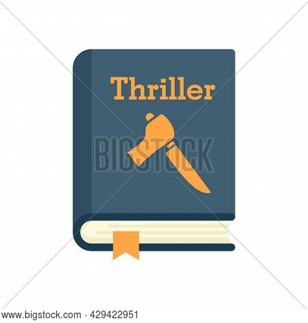 Thriller Book Icon. Flat Illustration Of Thriller Book Vector Icon Isolated On White Background