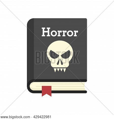 Horror Book Icon. Flat Illustration Of Horror Book Vector Icon Isolated On White Background