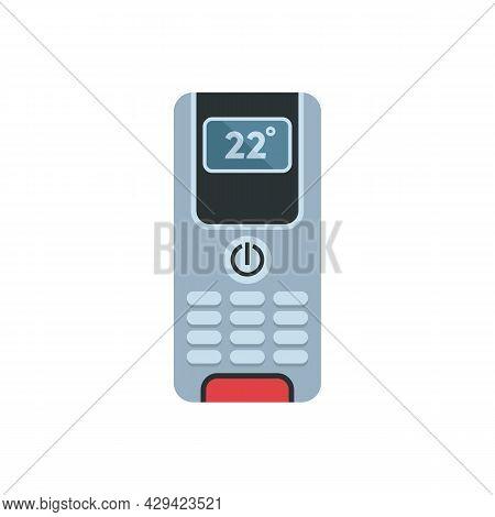 Digital Climate Remote Control Icon. Flat Illustration Of Digital Climate Remote Control Vector Icon