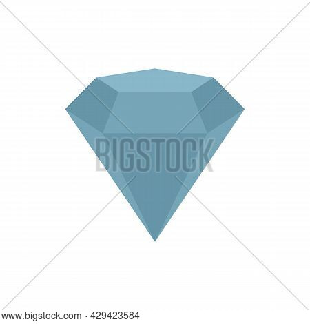 Diamond Skills Icon. Flat Illustration Of Diamond Skills Vector Icon Isolated On White Background