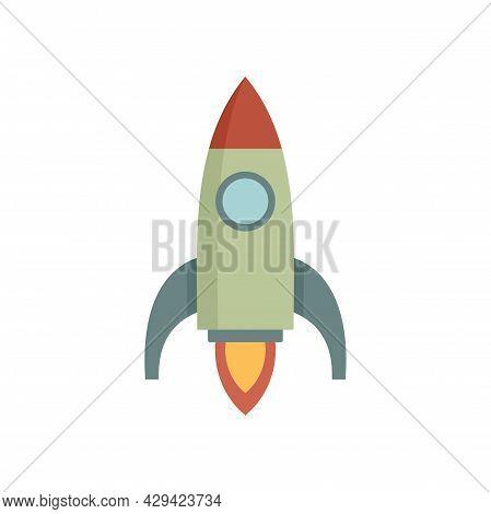 Life Skills Start Rocket Icon. Flat Illustration Of Life Skills Start Rocket Vector Icon Isolated On