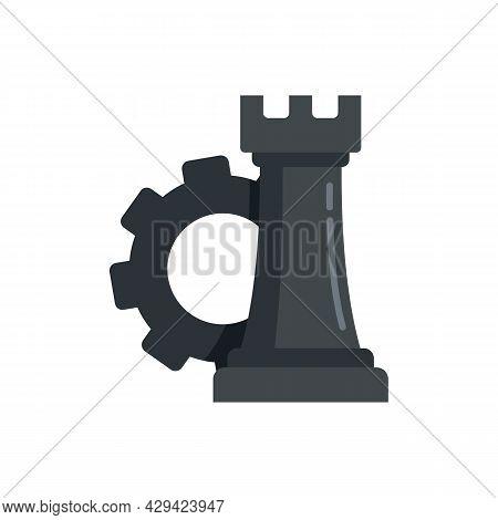 Life Skills Chess Piece Icon. Flat Illustration Of Life Skills Chess Piece Vector Icon Isolated On W