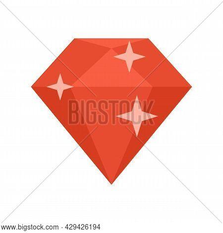 Diamond Mission Icon. Flat Illustration Of Diamond Mission Vector Icon Isolated On White Background