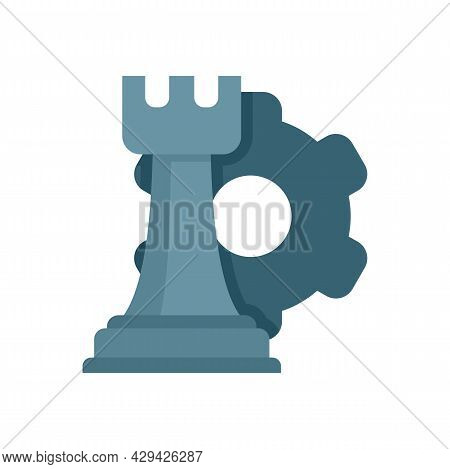 Mission Chess Rock Icon. Flat Illustration Of Mission Chess Rock Vector Icon Isolated On White Backg
