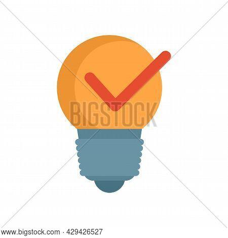 Bulb Idea Mission Icon. Flat Illustration Of Bulb Idea Mission Vector Icon Isolated On White Backgro