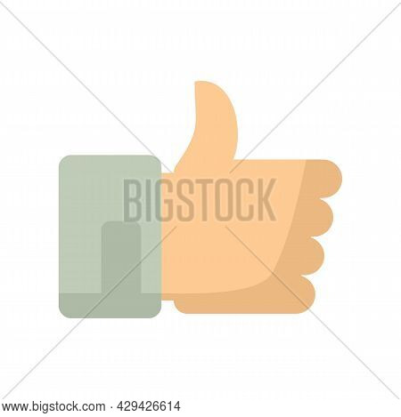 Thumb Up Mission Icon. Flat Illustration Of Thumb Up Mission Vector Icon Isolated On White Backgroun