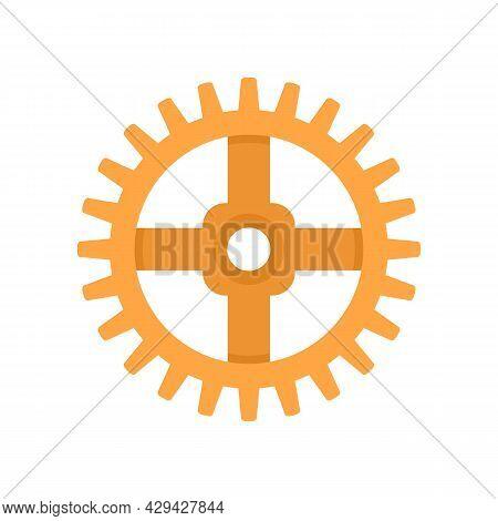 Watch Cog Wheel Piece Icon. Flat Illustration Of Watch Cog Wheel Piece Vector Icon Isolated On White