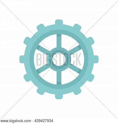Watch Cog Wheel Icon. Flat Illustration Of Watch Cog Wheel Vector Icon Isolated On White Background