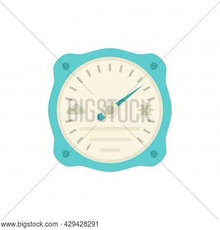 Humidity Barometer Icon. Flat Illustration Of Humidity Barometer Vector Icon Isolated On White Backg