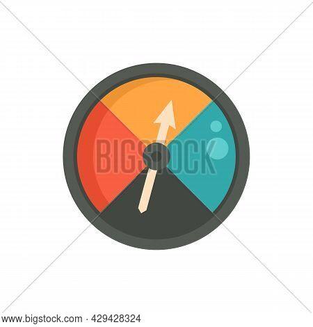 Analog Barometer Icon. Flat Illustration Of Analog Barometer Vector Icon Isolated On White Backgroun