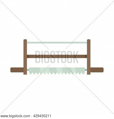 Frame Saw Icon. Flat Illustration Of Frame Saw Vector Icon Isolated On White Background