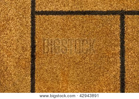 The texture of the yellow carpet pile macro for background and wallpaper. poster
