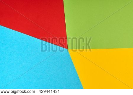 Papers In Colors Of Famous Computer Corporation, Software Manufacturer Logo. Red, Green, Blue, Yello