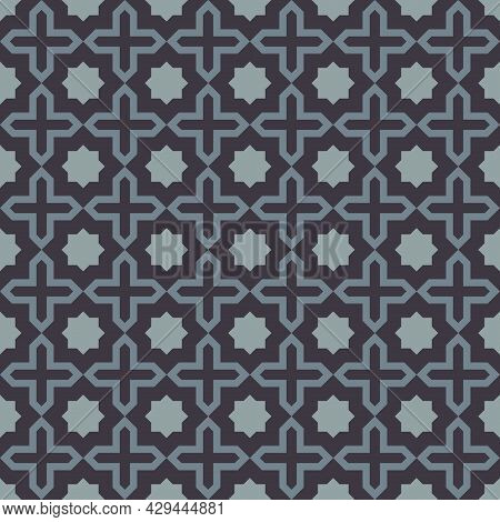 Octagon Shape Background With Alternating Cross. Arrange Them In A Grid. Seamless Abstract Geometric