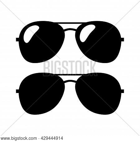 Aviator Sunglasses Flat Icon. Logo Template. Aviator Sunglasses Flat Icon. Logo Template.