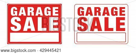 Garage Sale Sign, Sign Red Yard Sales Street Signs, Sale Events File Template