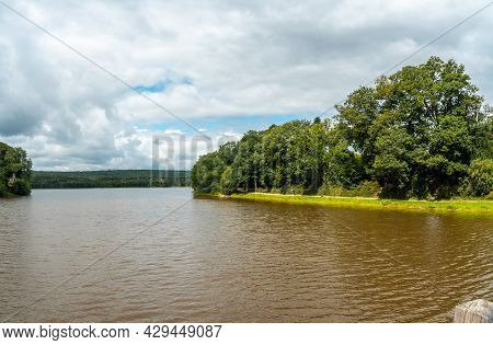 Lake Of Paimpont In The Broceliande Forest, French Mystical Forest Located In The Ille Et Vilaine De