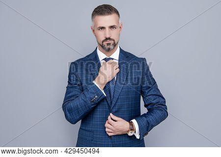 Confident Businessman In Formalwear. Business Success. Successful Man In Businesslike Suit.