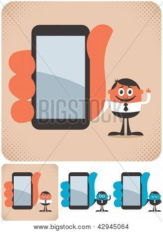 Holding Smartphone