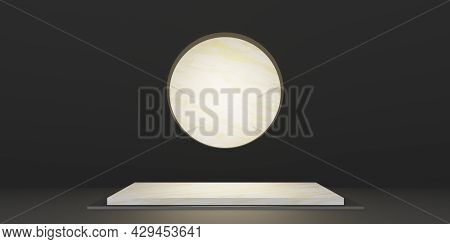 Display Stand Marble Backdrop Minimal Product Backdrop 3d Illustration