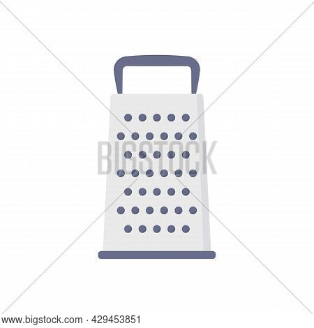Flat Icon Grater Isolated On White Background. Vector Illustration.